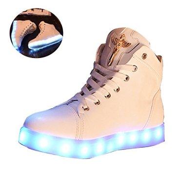 New Women LED Light Luminous Sneaker High Top Lovers Athleti