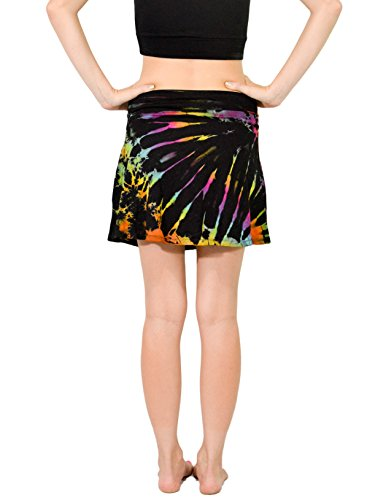 Orient-Trail-Womens-Hippie-Short-Tie-dye-Island-Cruise-Mini-Skirt-US-Size-4-12