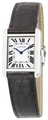 Cartier-Womens-W5200005-Tank-Solo-Stainless-Steel-Dress-Watch-with-Leather-Band