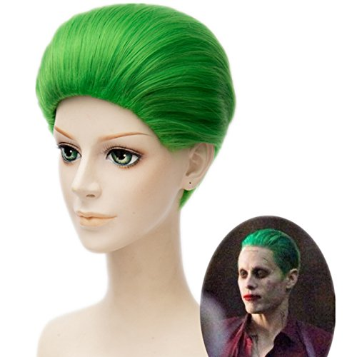 MSHUI DC Comics Suicide Squad Classic Batman Joker Cosplay wig Green Short Hair