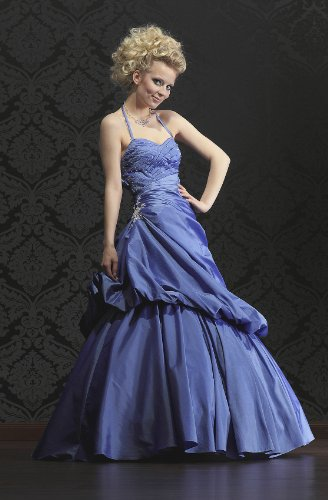 Ballkleid Abendkleid, blau Schlanke Optik