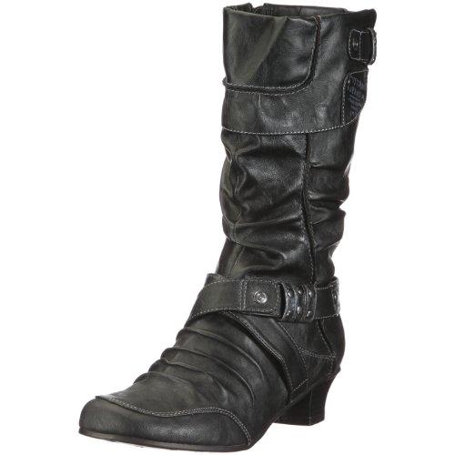 Mustang 1000-506 Damen-Stiefel, Damen Stiefel, Schwarz (schwarz 9), EU 41