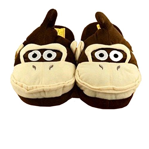 L Super Mario Donkey Kong Plush Slipper - One Size Fits All up to 10