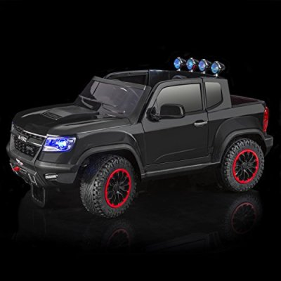 SPORTrax-Chevrolet-Colorado-Style-4WD-Kids-Ride-On-Car-Battery-Powered-Remote-Control-wFREE-MP3-Player-Black