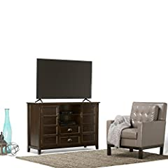 Simpli Home Burlington TV Media Stand for TVs up to 60