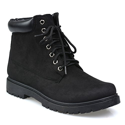 Influence Men's Brad Faux Suede 6-Inch Soft Toe Work Boot, Black, Size 9