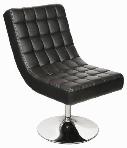 Lounge Sessel, Drehstuhl in schwarz