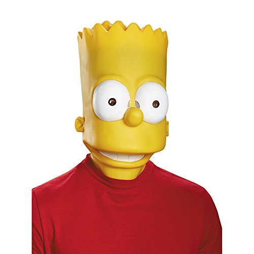 Disguise Men's Bart Adult Costume Mask, Yellow, One Size
