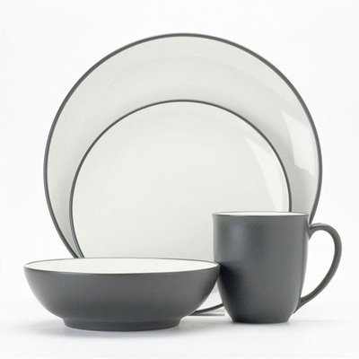 Noritake Colorwave Graphite - 4 piece place setting