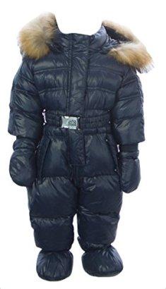 ADD-Baby-Girls-Snowsuit-WBoots-Gloves-Sz-6-Months-Dark-Navy
