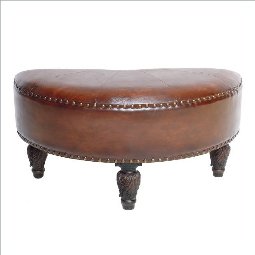 sale international caravan sicily faux leather ottoman in brown best buy stanley ff3
