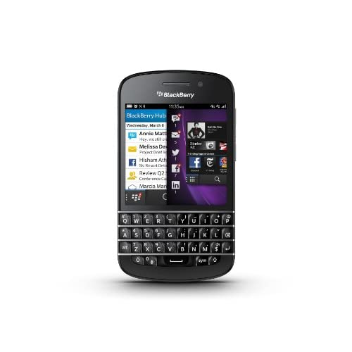 Blackberry Q10 - RFN81UW version (Black ブラック) SIMフリー 海外携帯