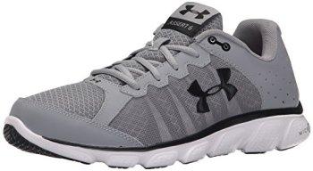 Under Armour Men's Micro G Assert 6 Running Shoes, Steel/White V1, 10.5