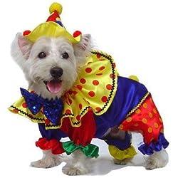 "Shiny Clown Dog Costume Size: 4 - (12.5"" L)"