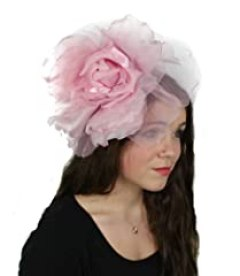 Hats By Cressida Pale Pink Silk Flower Kentucky Derby Fascinator Hat With Headband