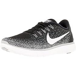 Nike Women's Free Rn Distance Black/White/Dark Grey/Wlf Grey Running Shoe 8.5 Women US