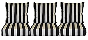 black and white stripe cushions for patio on Black And White Striped Outdoor Seat Cushions id=40963