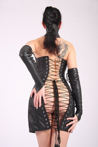 Korsettkleid aus Nappa Leder