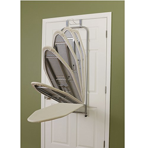 Household Essentials Over The Door Small Ironing Board Folding Action  sc 1 st  Tiny Household & Household Essentials Over The Door Ironing Board - Tiny House Bathroom
