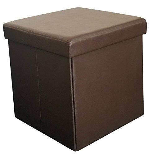 Sodynee 194 174 Faux Leather Folding Shoe Storage Ottoman Cubes