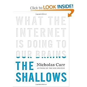 Facsimile of Nicholas Carr's book.