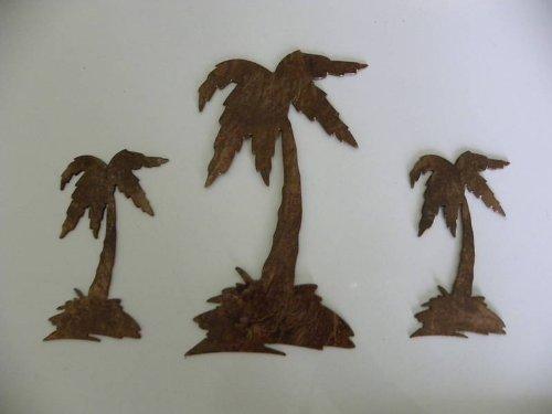 Palm Tree Set Of 3 Metal Wall Art Decor