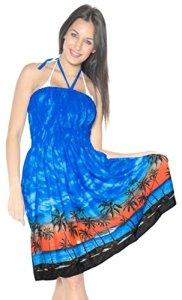 La-Leela-Soft-Smooth-Likre-Beachwear-Hawaiian-View-Maxi-Skirt-Short-Tube-Dress