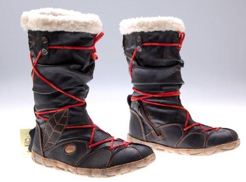 Leder Stiefel Damen Schwarz echt Leder Winter Schuhe gefüttert Damenstiefel Gr. 37