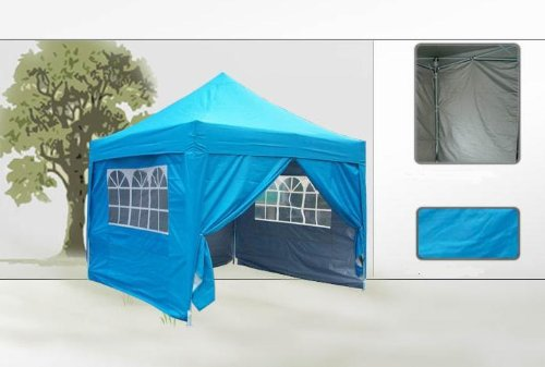 Brand New 10x10' EZ Pop Up Party Wedding Tent Canopy WATERPROOF Light Blue