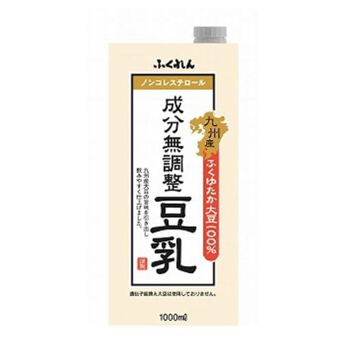 ふくれん 九州産ふくゆたか大豆成分無調整豆乳 1000ml×6本