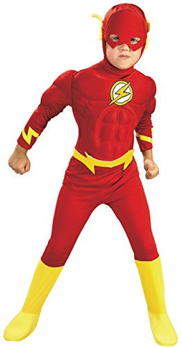 Rubies DC Comics Deluxe Muscle Chest The Flash Costume, Small