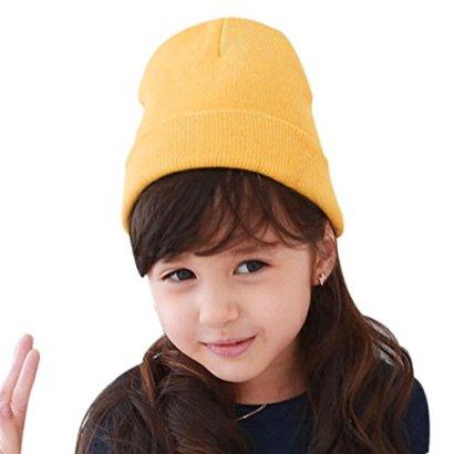 SunwardTM-Boy-Girls-Soft-Winter-Warm-Knitted-Cap-Yellow