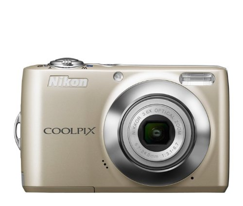 Nikon COOLPIX L24 14 MP Digital Camera with 3.6x NIKKOR Optical Zoom Lens and 3-Inch LCD (Silver)