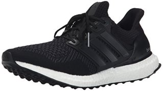 adidas Performance Men's Ultra Boost M Running Shoe, Black/Black/Solar Yellow, 9.5 M US