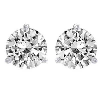 15-Carat-Solitaire-Diamond-Stud-Earrings-Round-Brilliant-Shape-3-Prong-Screw-Back-I-J-Color-I1-Clarity