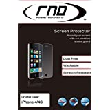 RND Power Solutions Ultra Crystal Clear Screen Protector / Guard for the Apple iPhone 4 and 4S with lint cleaning cloth (3 Pack)