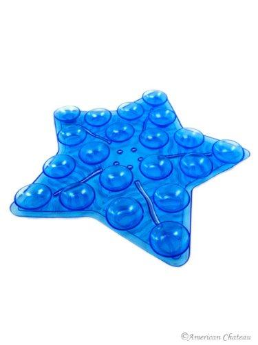 Bathtub Appliques Set 4 Blue Star Anti Non Slip Bath