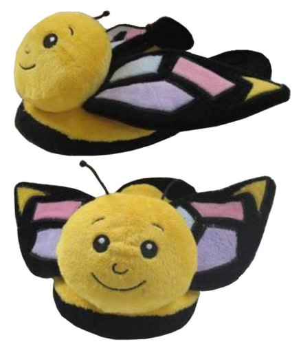 Wishpets Childrens Small Yellow Butterfly Slippers
