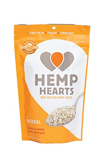 Manitoba Harvest Hemp Hearts Raw Shelled Hemp Seeds, natural flavor, 1 Pound.
