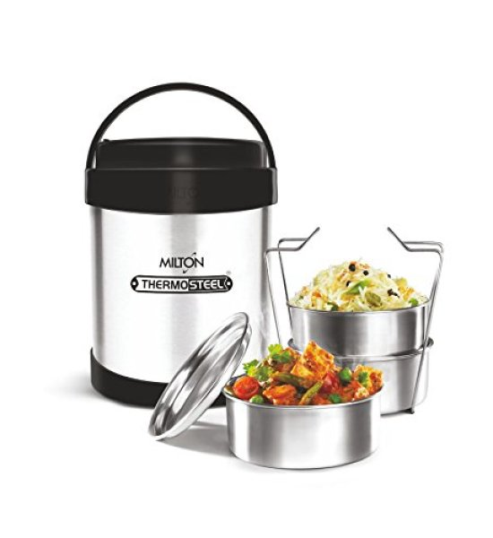 Milton Royal3 Stainless Steel Lunch Box, Silver