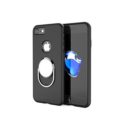 dodocool iPhone 7ケース リングホルダーとケース一体 全面保護360度回転可能・モバイルスタンド 落下防止 + スタンド機能 + 車載ホルダ 4.7インチ