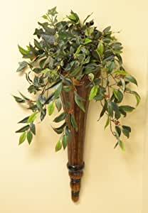 Amazon.com - Chocolate Wall Sconce with Silk Greenery ... on Wall Sconce Floral Arrangements Arrangement id=25201