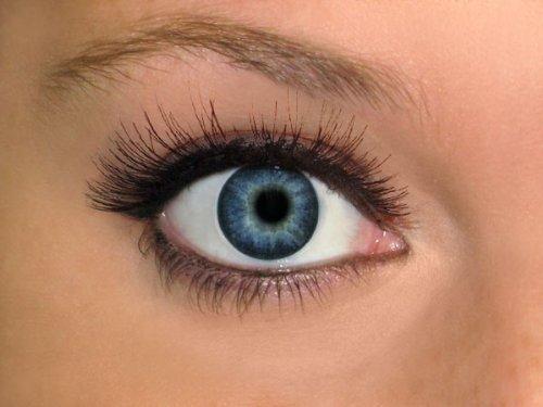 Twinkle Kontaktlinsen Emo Punk Linsen Party Kontaktlinsen Big Eye ohne Stärke, Farbe wählen:KL-01 blau
