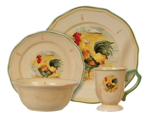Gibson Royal Rooster 16-Piece Fine China Dinnerware Set
