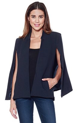 AD-Womens-Woven-Structured-Cape-Blazer-w-Pockets