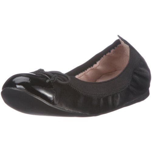 Buffalo London 210-2203 SILK PATENT BLACK 19 113228 Damen Ballerinas