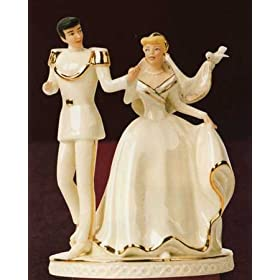 Cinderella and Prince Charming: A Magical Moment Cake Topper