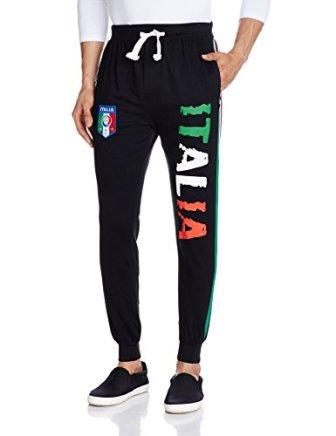 Body Tantrum Men's Track Pants (BTITBK_32W x 31L_Black)