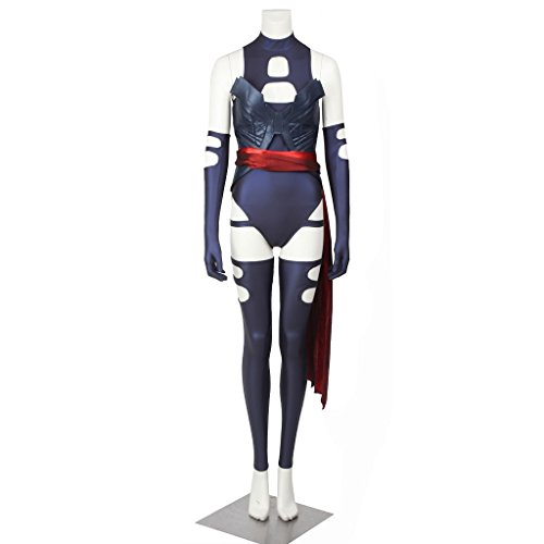 CosplayDiy Women's Suit for X-Men Apocalypse Psylocke Cosplay Costume S