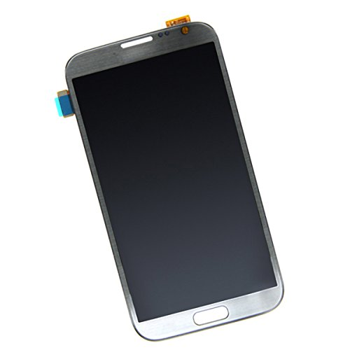 Samsung Galaxy Note 2 N7100適用 新しいLCDスクリーン+タッチデジタイザー 修理用パーツ グレー